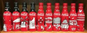 Complete set of 10 Coca-Cola alu bottles My Little Paris Kanako Kuno France 2018