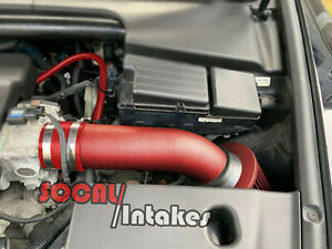 Red Coated Short 1pc Air Intake Kit Filter For 2004 2008 Acura Tl 3 2l V6