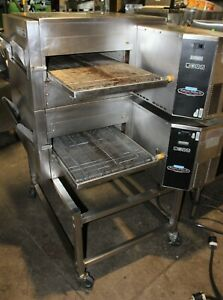 Lincoln Double Stack Model 1132 Electric Conveyor Pizza Oven 18 Wide Belt