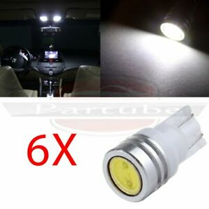 6x 1w T10 2827 168 194 W5w Bright Parking Light High Power Led Lamp Bulb