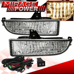 For 97 98 99 00 01 Honda Prelude Driving Clear Bumper Fog Lights Replacement Jdm