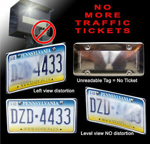 No Ticket Anti Toll Red Light Camera Speed Camera Car License Plate Cover