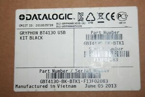 Datalogic Gryphon Gbt4100 Bk Barcode Scanner With Charge Cradle And Adapter