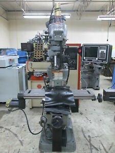 Bridgeport Series 1 Variable Speed 42 Table 2 axis Cnc Mill W trak Mx2 Control