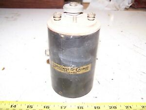New Old Stock Nos Brown Caine Brass Era Car Truck Ignition Coil Car Motorcycle