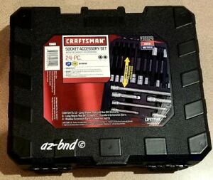 New Craftsman Socket Accesry Set 24 Pc Sae metric Great Set For Late Models