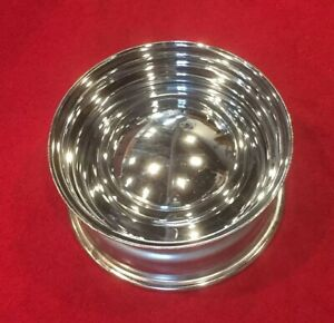 Chrome Reverse Smoothie Wheel With Baby Moon Cap New Old Stock