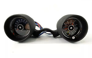Black V8 6000 Rpm Tachometer Clock Rally Pac W Backlight 1966 Ford Mustang