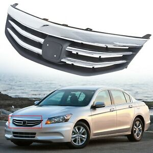 For Honda Accord 2011 2012 Radiator Bumper Grille Front Upper Chrome Grill