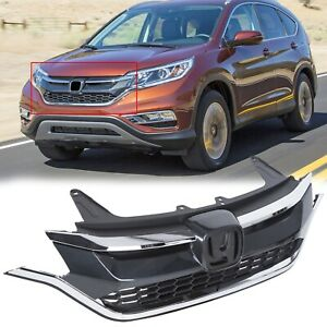 New For Honda Crv 2015 2016 Front Mesh Bumper Upper Trim And Lower Grille