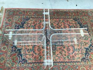 Vintage Mid Century Lucite Coffee Table Base Only