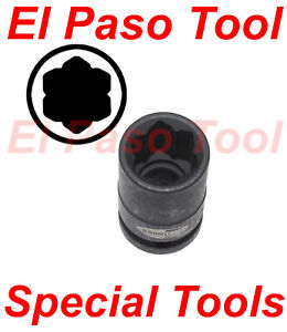 Baum Tools 17mm flower Shaped Lug Nut Impact Socket For Mercedes