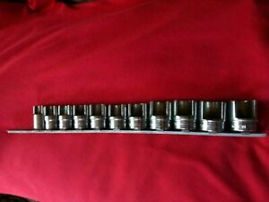 Snap On 3 8 Drive 11 Piece Set 3 8 3 4 Weatherhead Sockets Fd120 Fd240