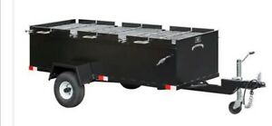 Bbq Pit Grill Smoker Trailer Cooker Catering Sling n Steel Custom Smokers