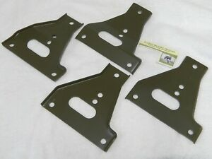 Willys Mb Front Bumper Gusset Set Of 4 Ford Gpw Wwii Jeep Support Bracket G503