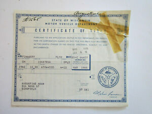 1942 Plymouth Ch Barn Find Historical Document