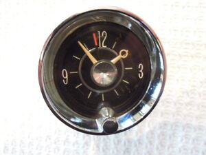 1962 Cadillac Clock Works Well Excellent Chrome