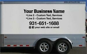 Business Lettering Trailer Truck Vinyl Stickers Graphics Sign 42x90 Set Of 2