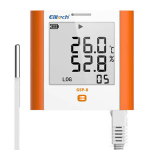 Elitech Gsp 8 Temperature And Humidity Data Logger Recorder 100000 Points Usb