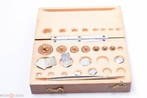 Antique French Copper Weights Gold Balance Scale 2 Micro Grams Up To 50 Pharmacy