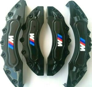 Black Bmw M Brake Caliper Cover Front Rear Power Abs Emblem Rim Wheel Set Series