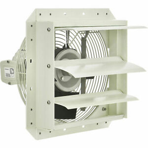 Corrosion Resistant Exhaust Fan With Shutter 12 Diameter Direct Drive 1 8