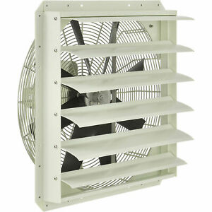 Corrosion Resistant Exhaust Fan With Shutter 24 Diameter Direct Drive 1 2