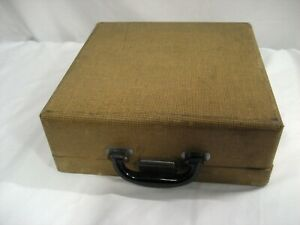Used Royal Portable Typewriter Case Only Brown Tweed Lockable W warranty