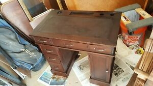 Vintage Antique Child S School Desk Very Unusual And Very Old