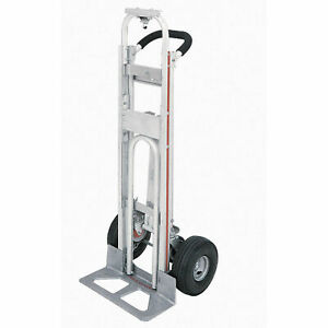 Magliner Tpaua4 3 in 1 Aluminum Hand Truck With 10 Full Pneumatic Wheels