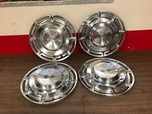 1960 Chevy Impala 14 Hubcaps Set Of 4 Nice 220