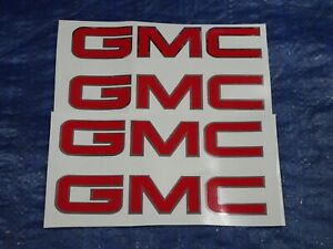 Gmc Truck Mud Flap Guard Logos Vehicle Vinyl Decals Sticker Set 6 1 8 X 1 1 8
