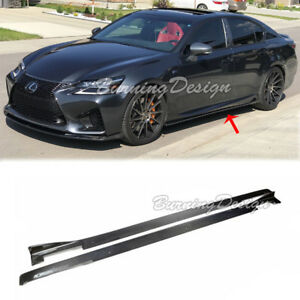 For 13 Up Lexus Gs Base And F Sport Gsf Carbon Fiber Lexon Style Side Skirts
