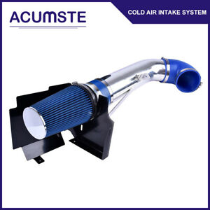 4 Cold Air Intake Heat Shield Blue Filter For Chevrolet Silverado Gmc Sierra