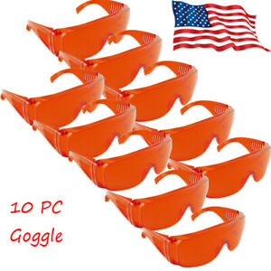 10pc Dental Goggle Eye Protective Glasses Safety For Led Uv Curing Light Lamp