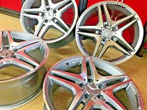 Mercedes 19 Inch E63 Rims Wheels Set4 Staggered Fits E350 E550 E300 E500 E Amg