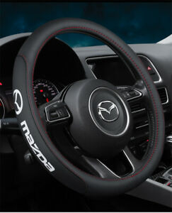 15 Car Steering Wheel Cover Genuine Leather For Mazda New