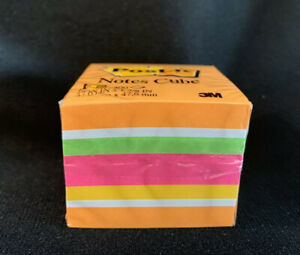 9 600 Mini Post it Sticky Note Pads Cubes 1 7 8 Neon Pink Orange Yellow Blue
