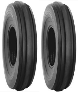 Two 2 7 50 16 Front Tractor Tires W tubes F2 3 Rib Lrd Deere Case Etc
