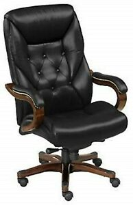 Kingston Traditional Big And Tall Tufted Leather Executive Chair