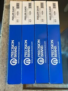 Lot Of 4 Precision Brand 19490 Feeler Gauge 0 0150x12 L pk12