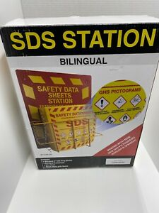 Bilingual Right To Know Sds Center Wire Rack 3 Binder Ghs Pictograms Industri