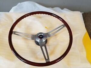 1967 69 Corvette Camaro Oer Walnut Wood Steering Wheel W Hub Horn Cap Nib