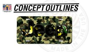 Camouflage Aluminium License Plate Tag Custom For Car Room T jeep 4
