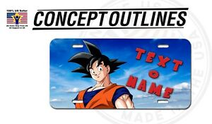 Goku Personalized W Your Name Text Aluminium License Plate Tag Custom Car