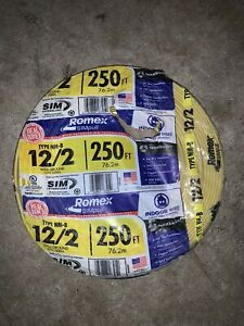 New Romex Wire 12 2 Type Nm b 250ft None Metallic Sheathed W Ground 600 Volt
