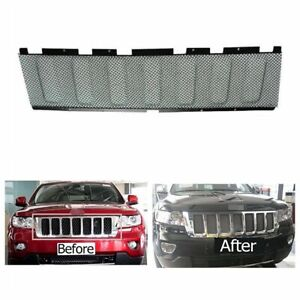 Black Front 3d Mesh Cover Grille Grill Insert For Jeep Grand Cherokee 2011 2013