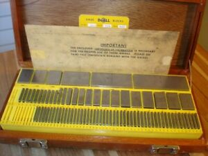 Doall 81 Pc Grade A Machinist Tool Inspection Gage Block Set 050 4 Usa Made