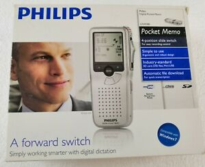 Philips Lfh9380 Rechargeable Pocket Memo Digital Diction Recorder