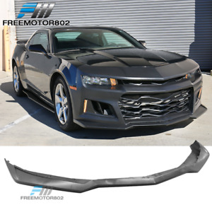 Replacement Front Lip For 14 15 Chevy Camaro Zl1 Style Front Bumper Unpainted